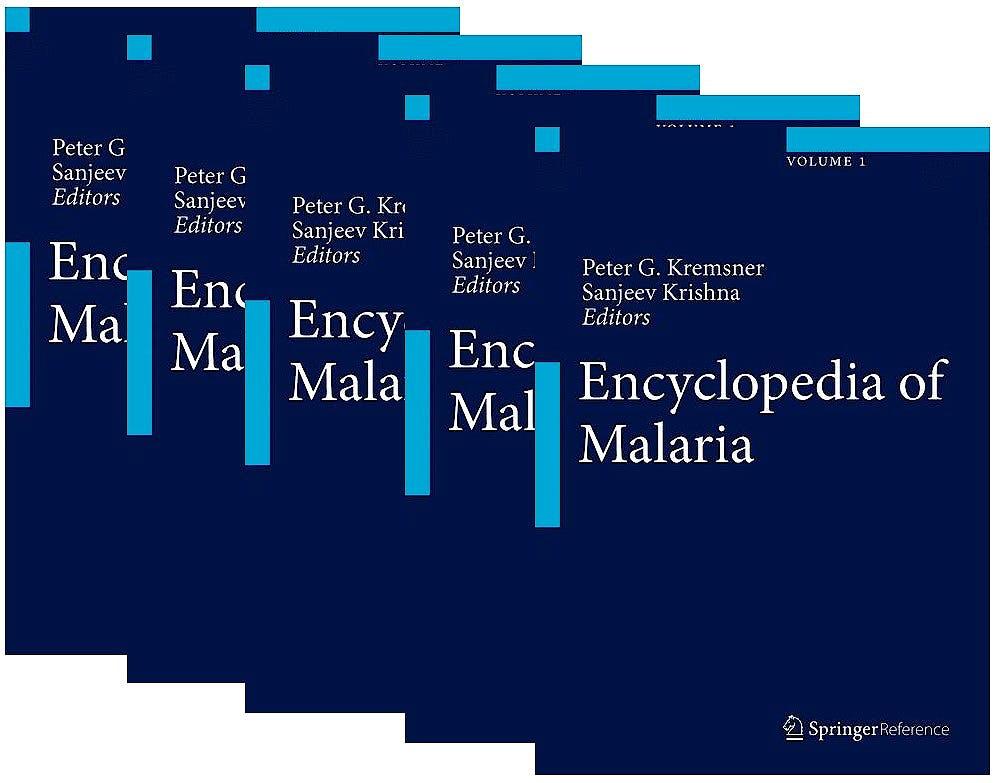 Portada del libro 9781461483250 Encyclopedia of Malaria (5 Volume Set)