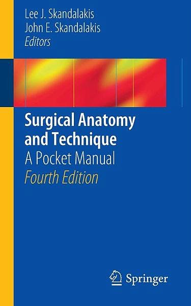 Portada del libro 9781461485629 Surgical Anatomy and Technique. a Pocket Manual