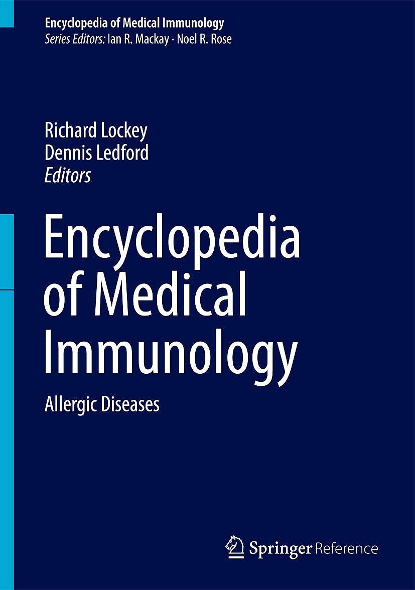 Portada del libro 9781461491958 Encyclopedia of Medical Immunology, Vol. 3: Allergic Diseases + Online Access