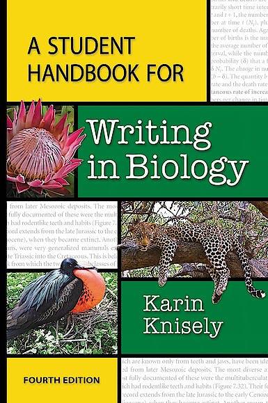 Portada del libro 9781464150760 A Student Handbook for Writing in Biology