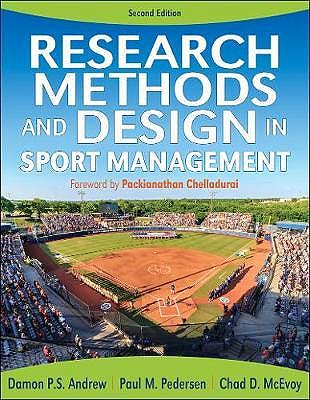 Portada del libro 9781492574910 Research Methods and Design in Sport Management (With Web Resource)