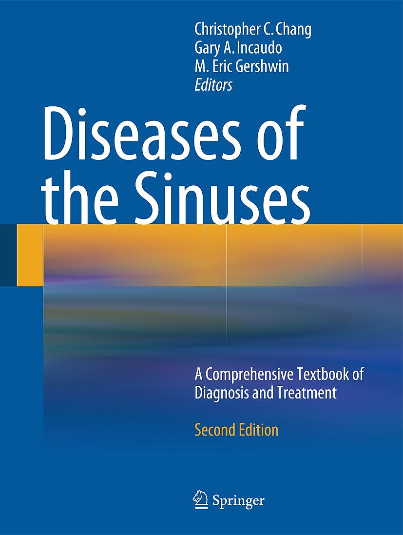Portada del libro 9781493902644 Diseases of the Sinuses. a Comprehensive Textbook of Diagnosis and Treatment