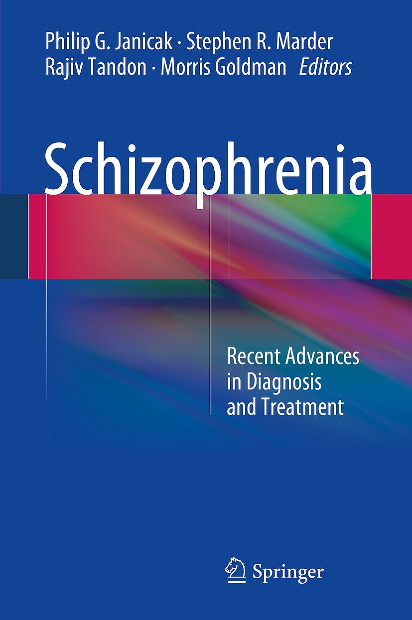 Portada del libro 9781493906550 Schizophrenia. Recent Advances in Diagnosis and Treatment