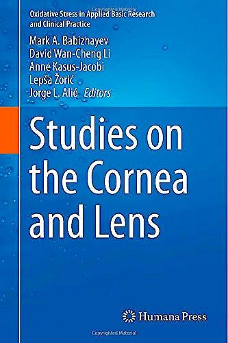 Portada del libro 9781493919345 Studies on the Cornea and Lens
