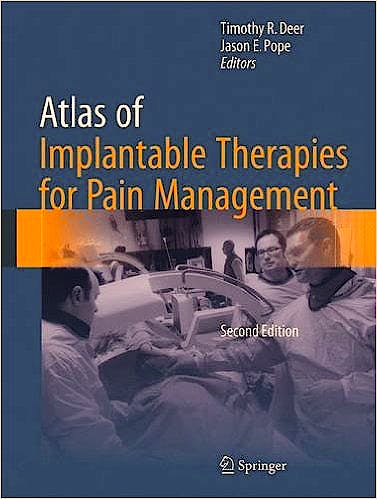 Portada del libro 9781493921096 Atlas of Implantable Therapies for Pain Management