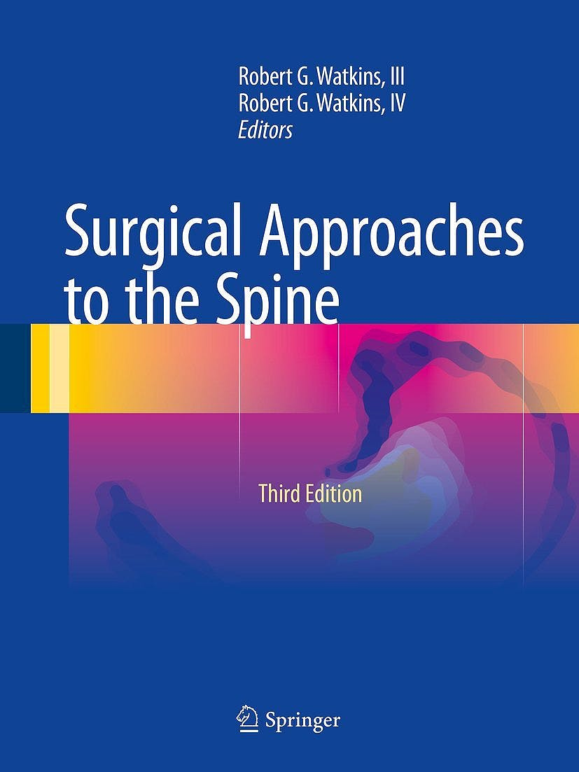 Portada del libro 9781493924646 Surgical Approaches to the Spine