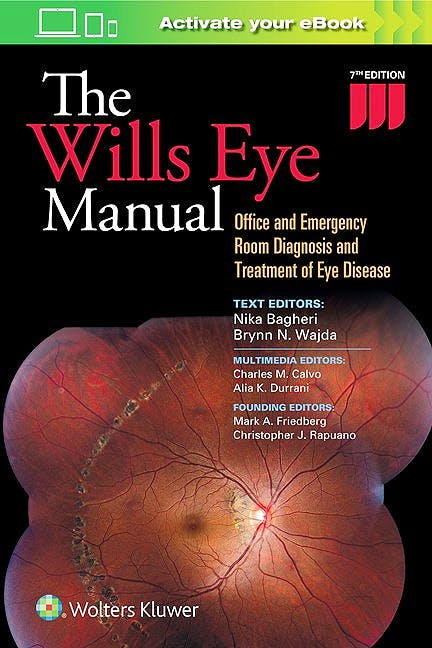 Portada del libro 9781496318831 The Wills Eye Manual. Office and Emergency Room Diagnosis and Treatment of Eye Disease