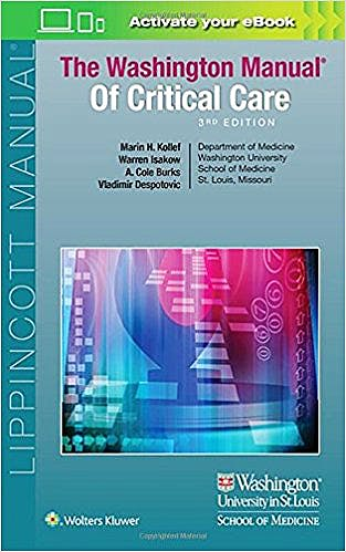 Portada del libro 9781496328519 The Washington Manual of Critical Care
