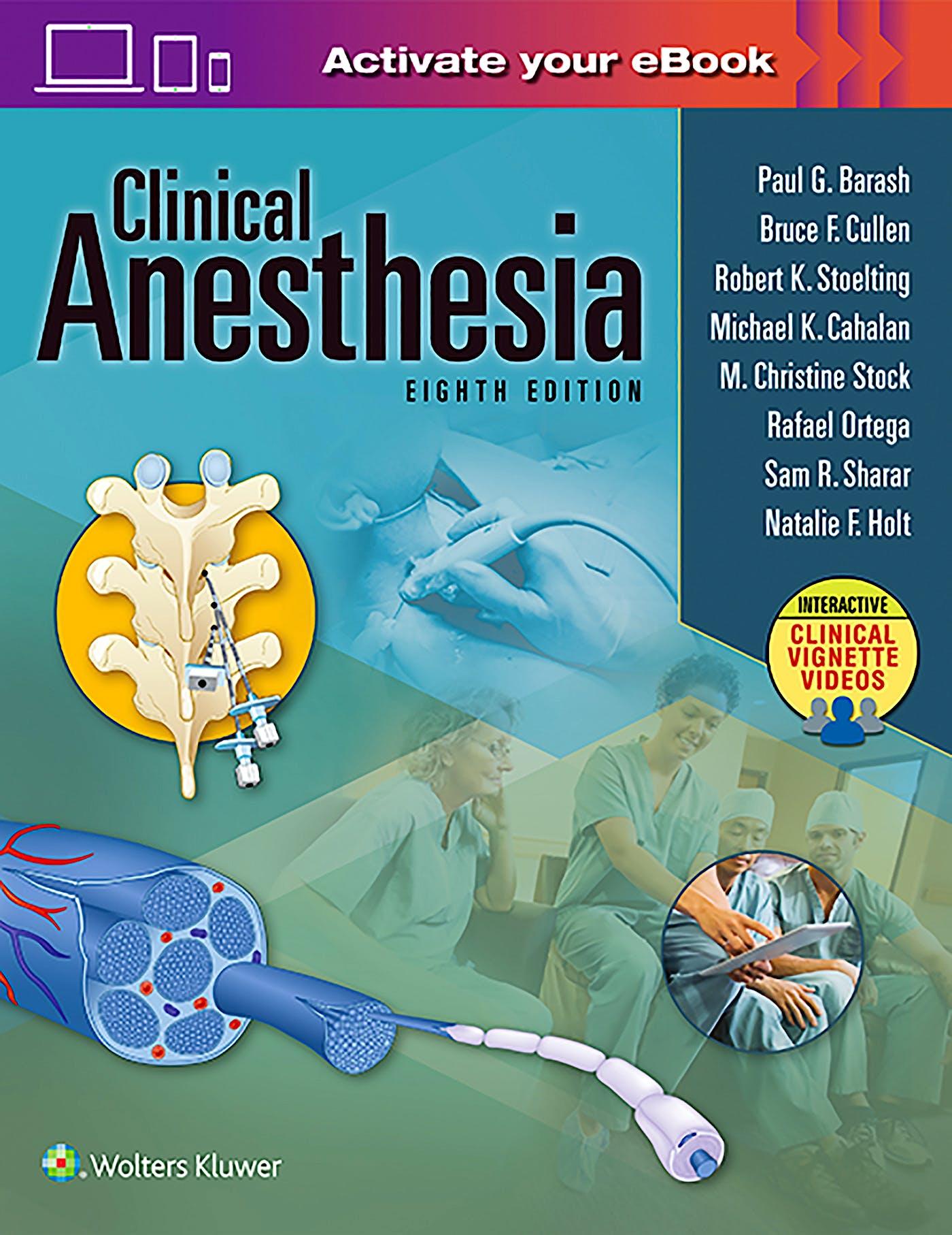 Portada del libro 9781496337009 Clinical Anesthesia