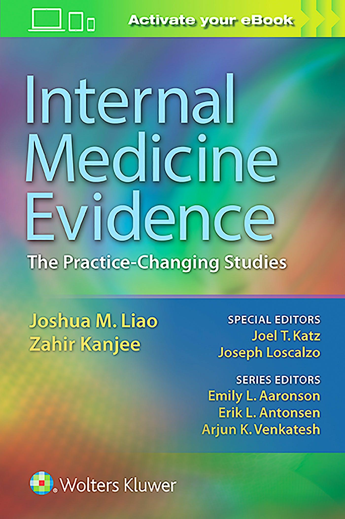 Portada del libro 9781496343550 Internal Medicine Evidence. the Practice-Changing Studies