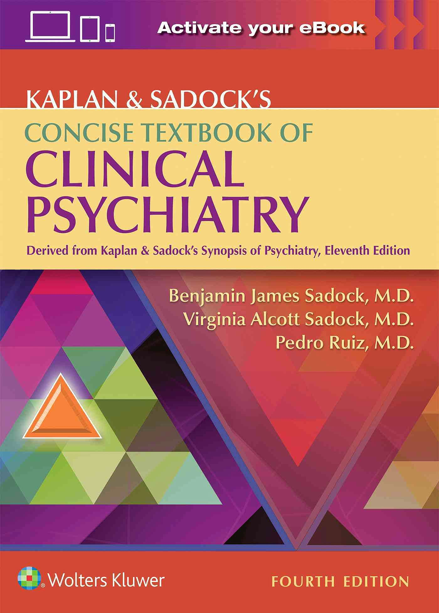 Portada del libro 9781496345257 Kaplan and Sadock's Concise Textbook of Clinical Psychiatry