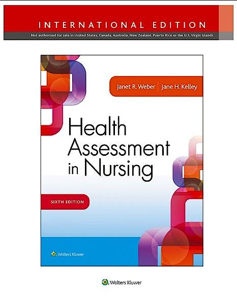 Portada del libro 9781496345875 Health Assessment in Nursing (International Edition)