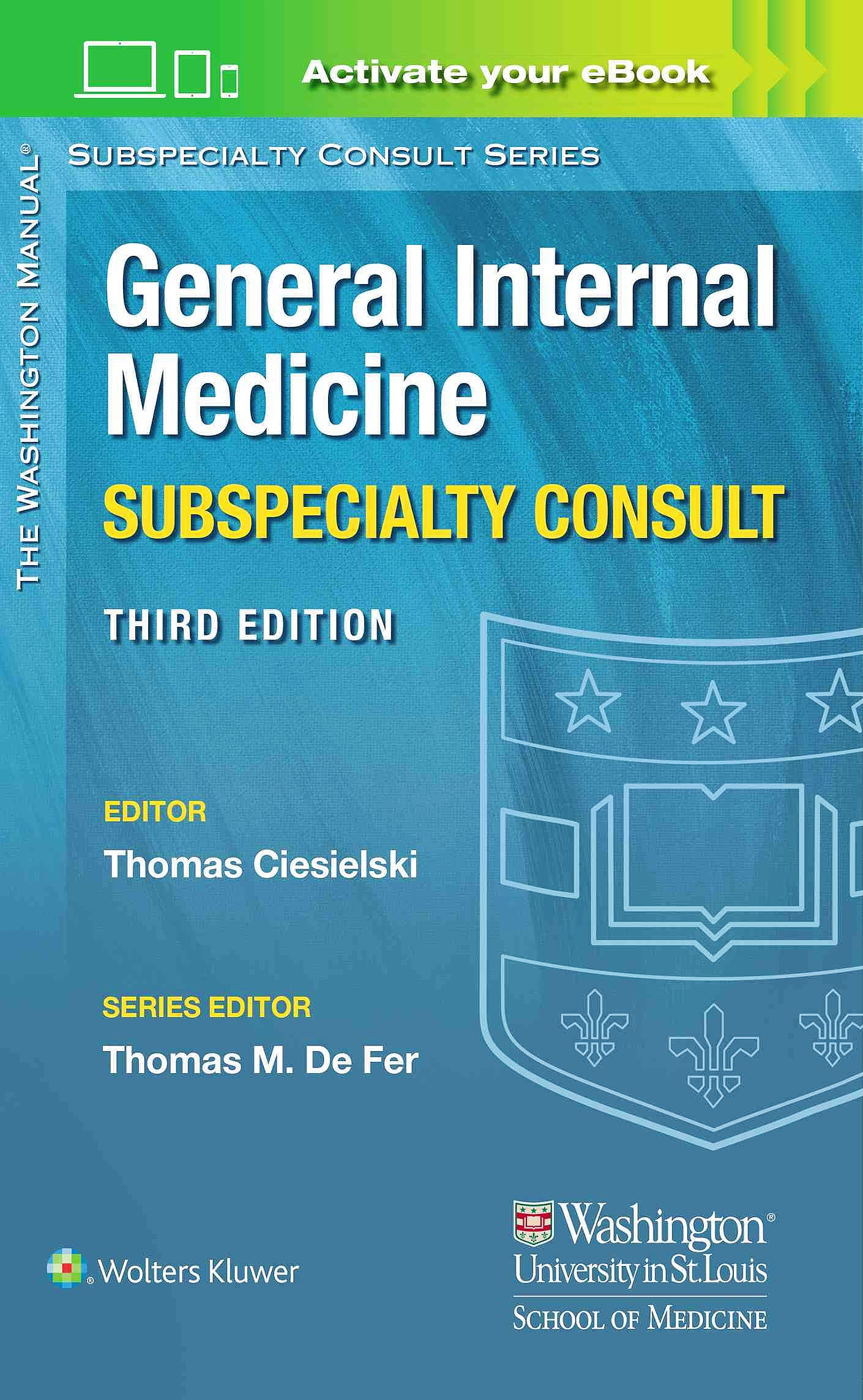 Portada del libro 9781496346322 The Washington Manual General Internal Medicine Subspecialty Consult
