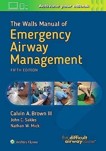Portada del libro 9781496351968 The Walls Manual of Emergency Airway Management