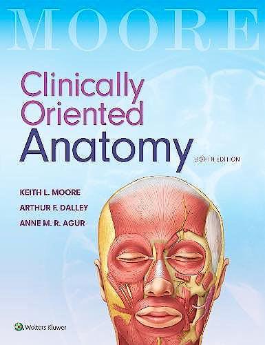 Portada del libro 9781496354044 MOORE Clinically Oriented Anatomy. International Edition
