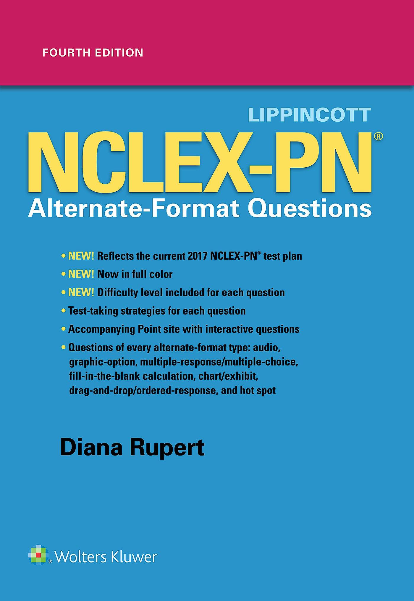 Portada del libro 9781496370037 Lippincott Nclex-Pn Alternate-Format Questions