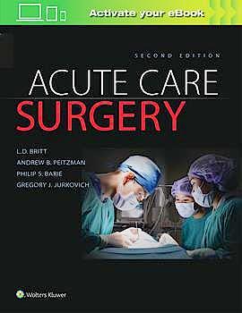 Portada del libro 9781496370044 Acute Care Surgery