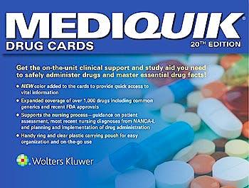 Portada del libro 9781496382092 MediQuik Drug Cards