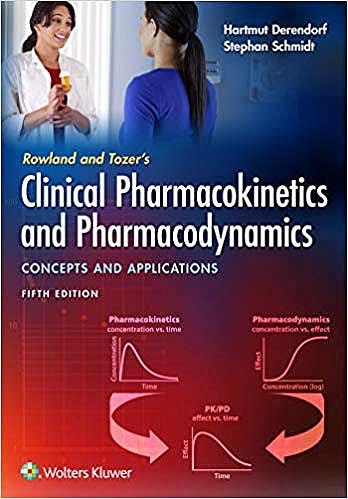 Portada del libro 9781496385048 Rowland and Tozer's Clinical Pharmacokinetics and Pharmacodynamics. Concepts and Applications
