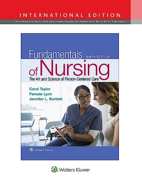 Portada del libro 9781496391001 Fundamentals of Nursing (International Edition)