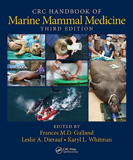 Portada del libro 9781498796873 CRC Handbook of Marine Mammal Medicine