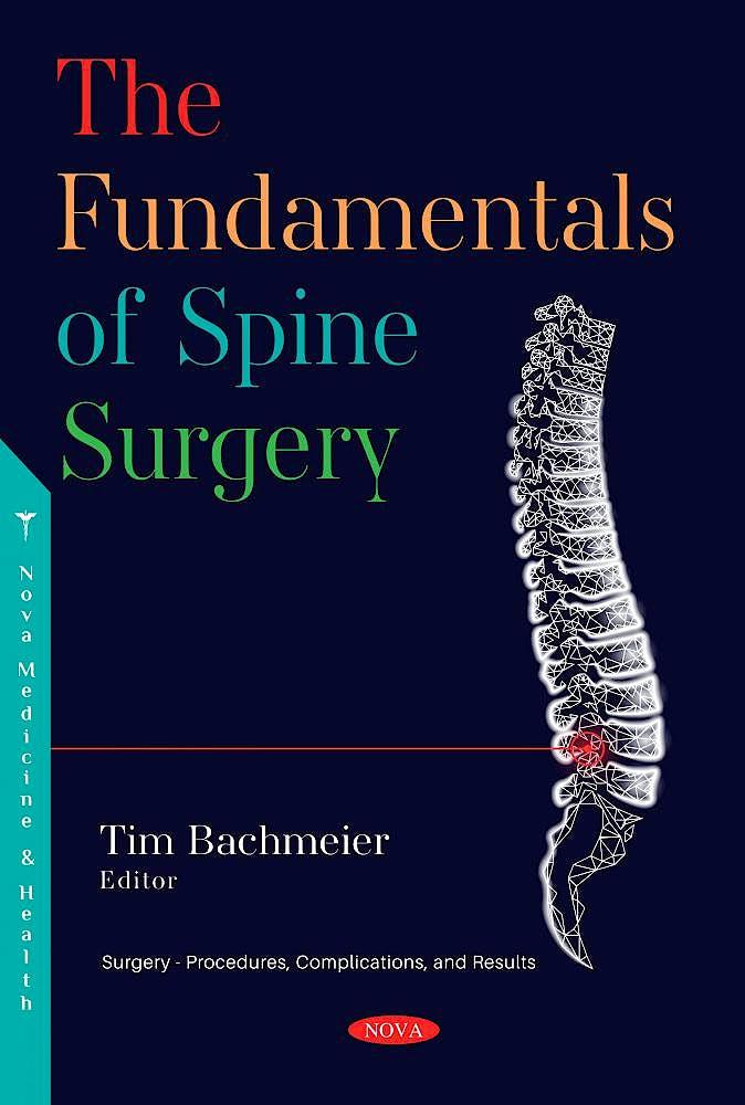 Portada del libro 9781536185706 The Fundamentals of Spine Surgery
