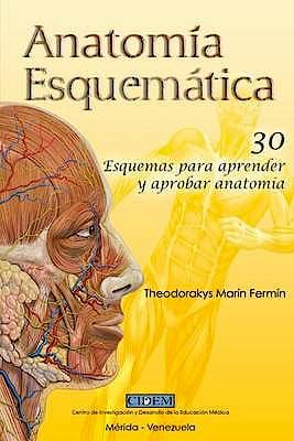 Portada del libro 9781537076805 Anatomía Esquemática. 30 Esquemas para Aprender y Aprobar Anatomía