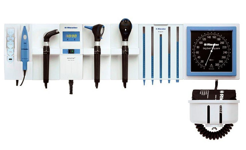 Tensiómetro Riester Aneroide Big Ben Square, con Brazalete Velcro Adultos. Módulo de Ampliación para Ri-Former®