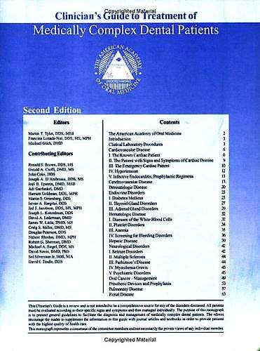 Portada del libro 9781550093346 Medically Complex Dental Patients