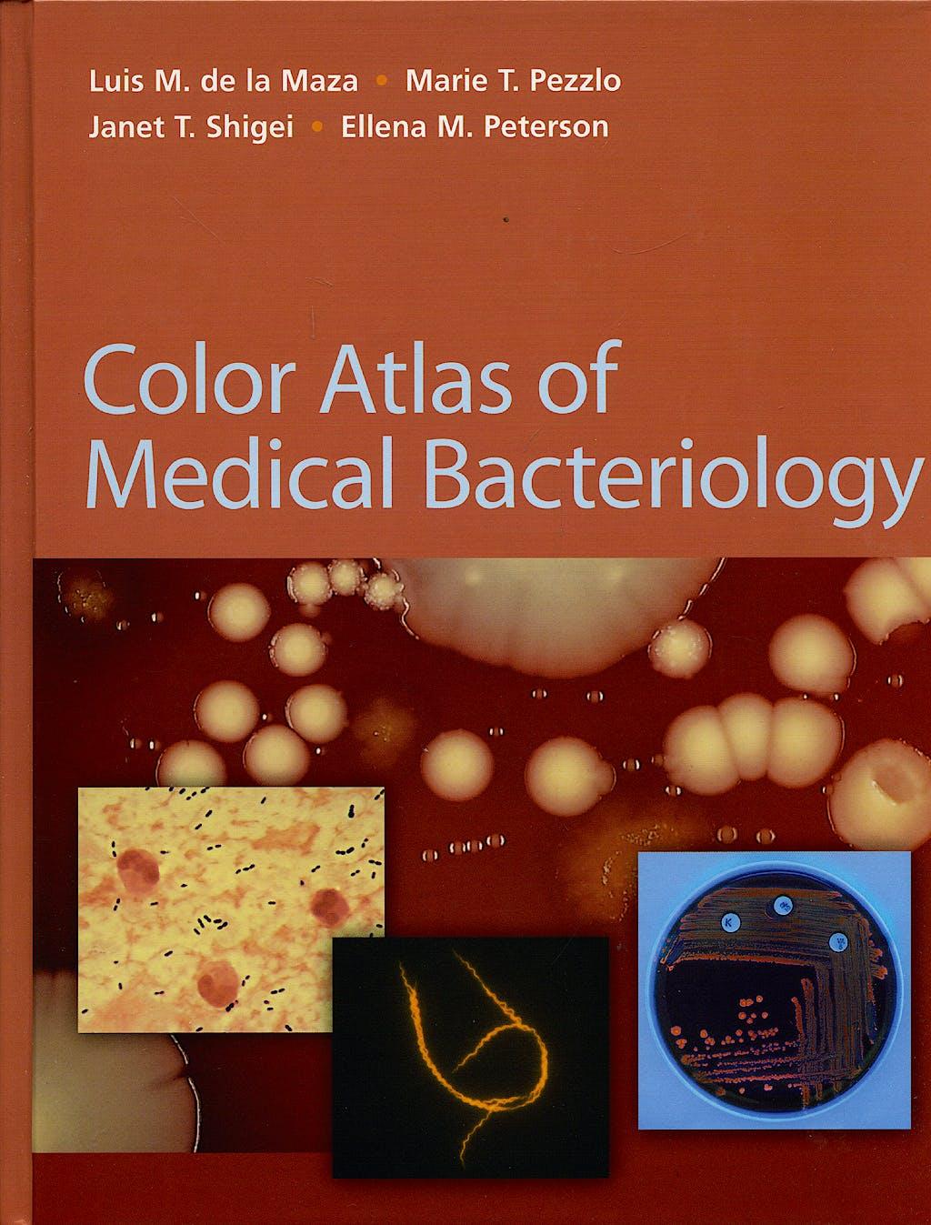 Portada del libro 9781555812065 Colour Atlas of Medical Bacteriology