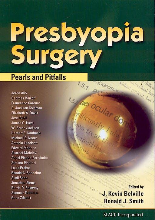 Portada del libro 9781556427657 Presbyopia Surgery : Pearls and Pitfalls