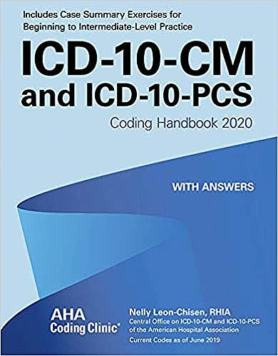 Portada del libro 9781556484452 ICD-10-CM and ICD-10-PCS Coding Handbook 2020 with Answers