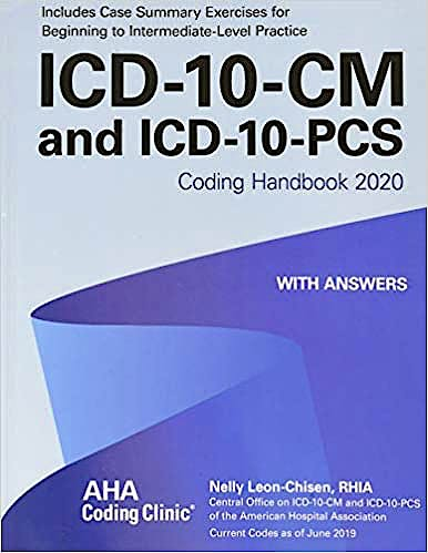 Portada del libro 9781556484513 ICD-10-CM and ICD-10-PCS Coding Handbook 2020 with Answers