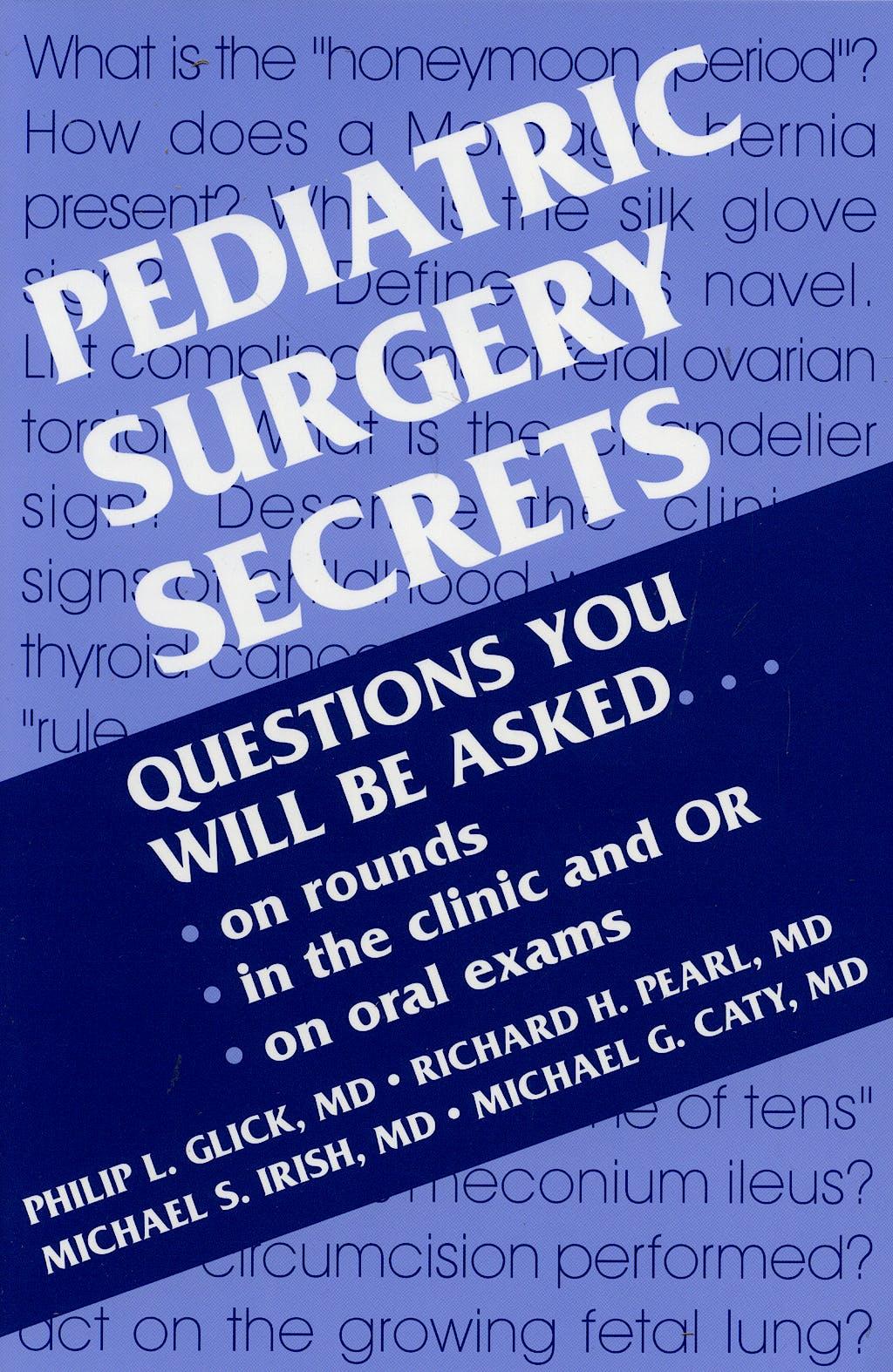 Portada del libro 9781560533177 Pediatric Surgery Secrets