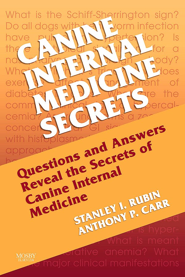 Portada del libro 9781560536291 Canine Internal Medicine Secrets