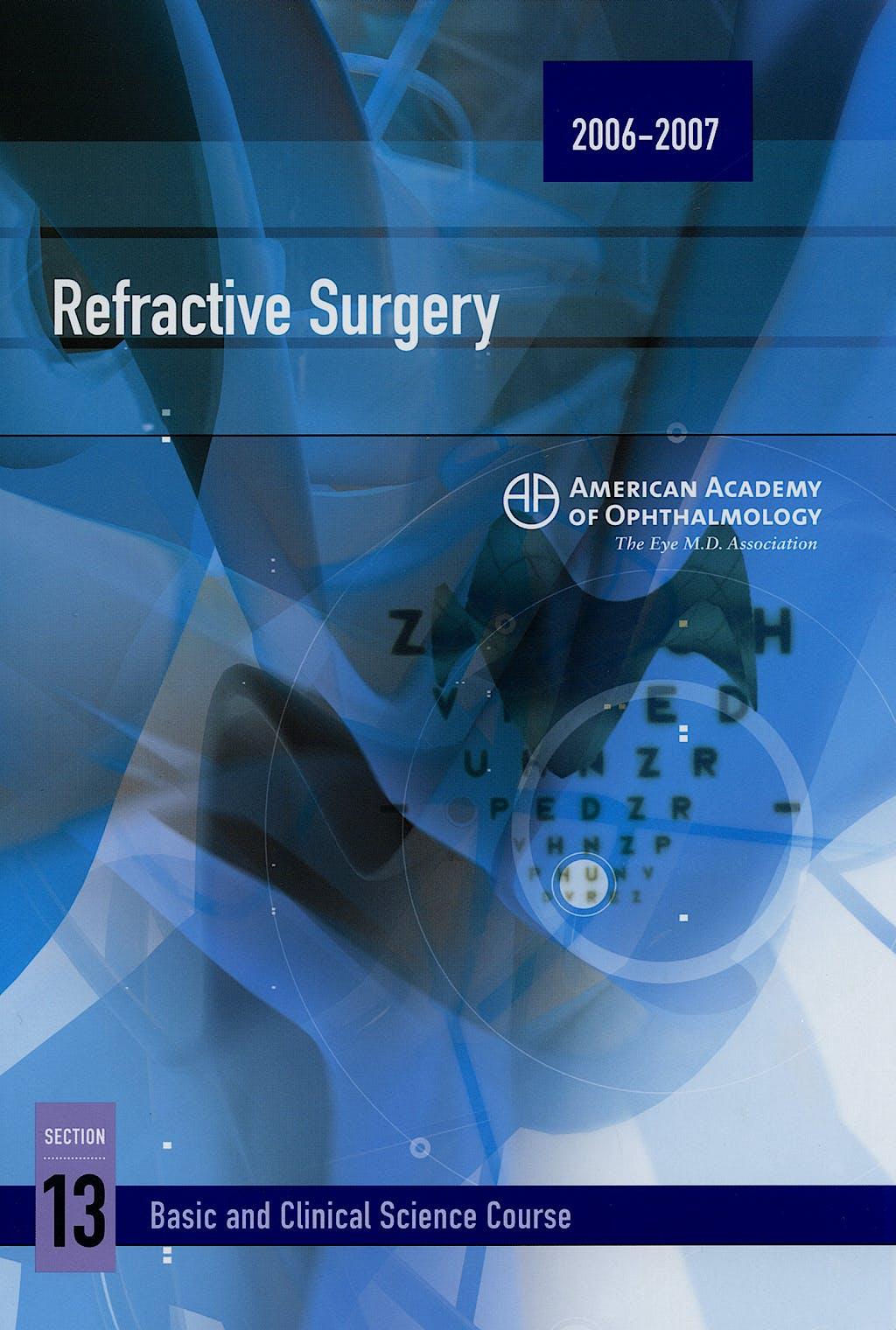 Portada del libro 9781560556176 Refractive Surgery