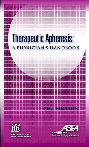 Portada del libro 9781563952715 Therapeutic Apheresis: A Physician's Handbook