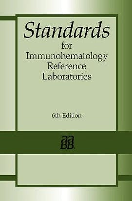 Portada del libro 9781563952876 Standards for Immunohematology Reference Laboratories