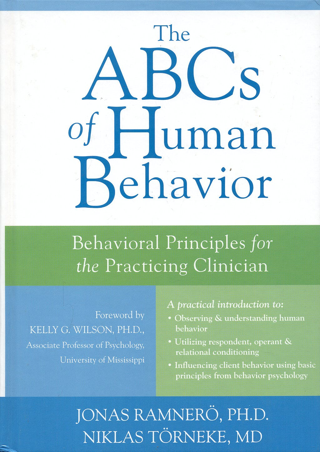 Portada del libro 9781572245389 The Abcs of Human Behavior