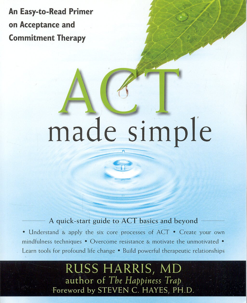 Portada del libro 9781572247055 ACT Made Simple. An Easy-to-Read Primer on Acceptance and Commitment Therapy