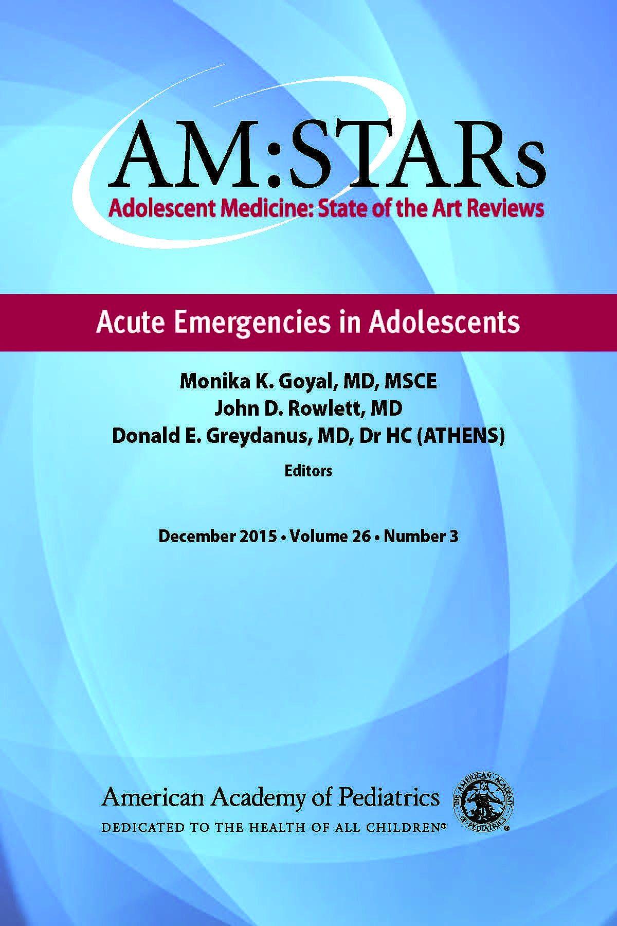 Portada del libro 9781581108880 AM:STARs. Acute Emergencies in Adolescents
