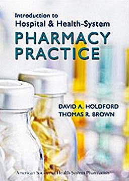 Portada del libro 9781585282371 Introduction to Hospital and Health-System Pharmacy Practice