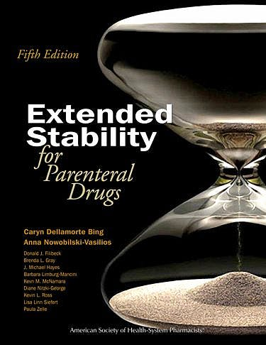 Portada del libro 9781585283408 Extended Stability for Parenteral Drugs