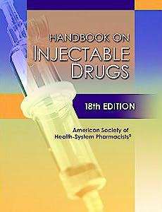 Portada del libro 9781585284191 Handbook on Injectable Drugs