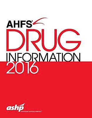 Portada del libro 9781585285570 Ahfs Drug Information 2016