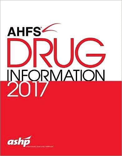 Portada del libro 9781585285587 Ahfs Drug Information 2017