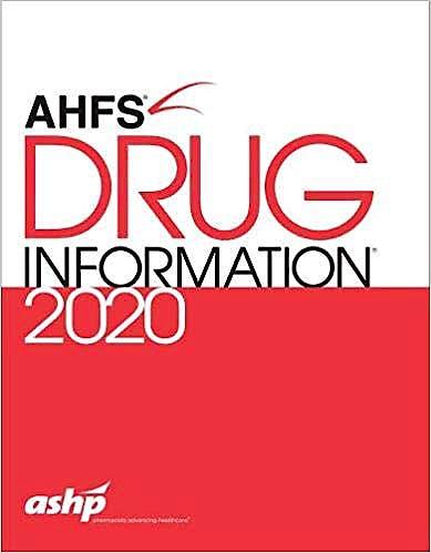 Portada del libro 9781585286119 AHFS Drug Information 2020