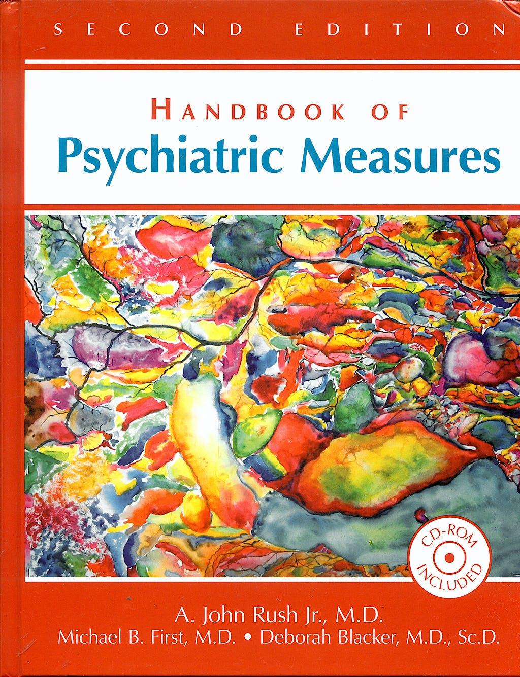 Portada del libro 9781585622184 Handbook of Psychiatric Measures + Cd-Rom