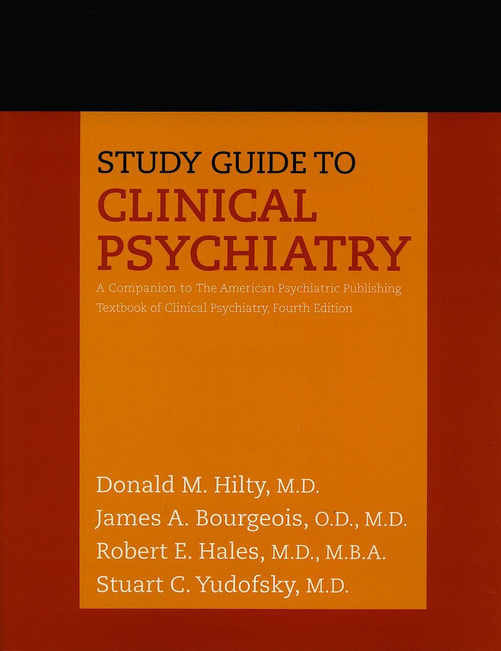 Portada del libro 9781585622603 Study Guide to Clinical Psychiatry