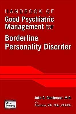 Portada del libro 9781585624607 Handbook of Good Psychiatric Management for Borderline Personality Disorder